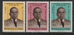 Congo,Kinshasa, Scott # 396-8 MNH Part Set Kasavubu, 1961 - Republic Of Congo (1960-64)