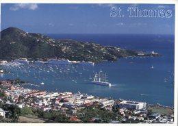 (3322 SF)  Cruise Ship & Sailing Ship In St Thomas - - Dampfer
