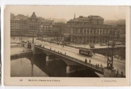 Bilbao Real Photo Postcard  Tramway Tranvia Tipo Foto Antigua Tarjeta Postal  Vintage Original Postcard Cpa Ak (W3_2742) - Vizcaya (Bilbao)