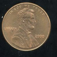 UNITED STATES - USA - ONE CENT 2000  - LINCOLN - Émissions Fédérales