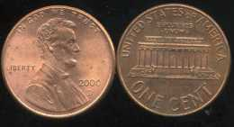 UNITED STATES - USA - ONE CENT 2000  D - LINCOLN - Émissions Fédérales