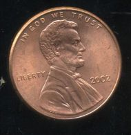 UNITED STATES - USA - ONE CENT 2002   - LINCOLN - Émissions Fédérales