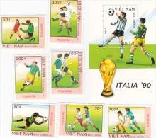 Vietnam1989 World Cup Soccer Mini Sheet And Set MNH - Vietnam