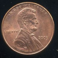 UNITED STATES - USA - ONE CENT 2005  - LINCOLN - Émissions Fédérales