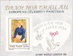 Vietnam 1990 Paintings Mini Sheet MNH - Vietnam