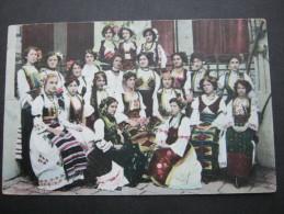SERBISCHE TRACHTEN Karte Um 1915 - Serbia