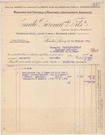 71 BOURBON LANCY FACTURE 1913 Manufacture MACHINES AGRICOLES Emile PUZENAT & FILS  *  S6 - Agriculture