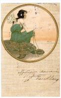 CPA - Raphaël KIRCHNER : JEUNE FEMME A LA TORTUE- 1904 - - Kirchner, Raphael