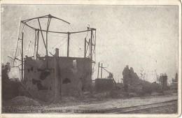 LANGEMARCK            ZERSCHOSSENE   GASANSTALT     1918 - Langemark-Poelkapelle