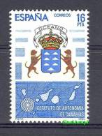Spain 1984 Mi  2636 MNH - Crest Symbol Dogs Map - Timbres