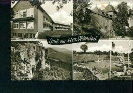 Gruß Aus Hess. Oldendorf MB Schwimmbad Badeanstalt Haus Niedersachsen 31.10.1966 - Hessisch-Oldendorf