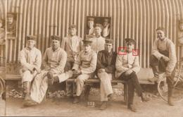 Photocarte- Groupe De MILITAIRE N°28  SOLDATS ALLEMANDS  Lazarett N°312 Bicyclette (2scans) - War 1914-18