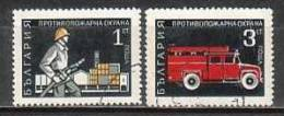 BULGARIA / BULGARIE - 1970 - Protection Contre L´incendie - 2v Obl. - Bulgarien