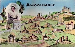 CPA - Carte Géographique - Angoumois - Landkarten