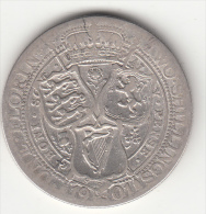 GRAN BRETAGNA - 2 SHILLING 1901 ARGENTO - - 1816-1901 : Acuñaciones S. XIX