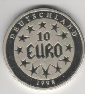 Belle Médaille  10 Euro 1998 Deutschland - Allemagne