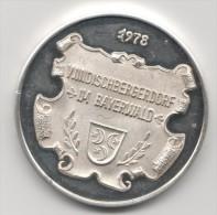 Superbe Médaille De 1978  En Argent 1000 ...windischbergerdorf Im Bayerwald - Allemagne