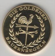 Superbe Médaille Religieuse(la Toussaint) Plaqué Or - Allemagne