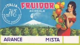 ETICHETTA PUBBLICITARIA-  ARANCE  FRUIDOR -ACIREALE - Advertising