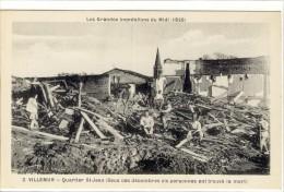 Carte Postale Ancienne Villemur - Quartier Saint Jean. Sous Les Décombres 6 Personnes Ont Trouvé La Mort - Catastrophe - France