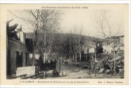 Carte Postale Ancienne Villemur - Boulevard De Sifranc Et Rue De La Boucherie - Catastrophe, Inondations - France
