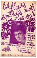 Partition - Les Fleurs Sont Des Mots D'Amour De Louis Poterat Et Maurice Yvain - 1942 - Partitions Musicales Anciennes