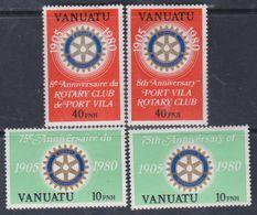 VANUATU N° 609 / 12 X 75 ème Anniver. Du Rotary Inter. Les 2 Légendes Trace De Charnière Sinon TB - Vanuatu (1980-...)