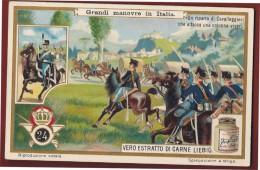 FIGURINA MILITARE  Chromo Antica PUBBLICITARIA Manovre In Italia - Cavalleggeri - Libri, Riviste, Fumetti