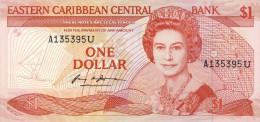 BILLET # CARAIBES ORIENTALES  # 1986/88 # PICK 17 # UN DOLLAR     # NEUF # - Caraïbes Orientales