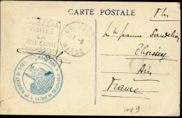 """MAROC - CPA EN FM, CACHET SPECIAL """" 1er REGIMENT DE TIRAILLEURS..... """", OBL. DAGUIN FLAMME DE OUEZZANE LE 17/8/19.. - TB - Maroc (1891-1956)"""