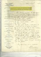 21 - Côte-d´or - POUILLY-EN-AUXOIS - Facture TRIBET -  Horlogerie  – 1883 - France