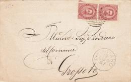 1887 - CINIGIANO / GROSSETO - NUMERALE A BARRE ANNULLATORE - PIEGO -  L2725 - 1878-00 Umberto I