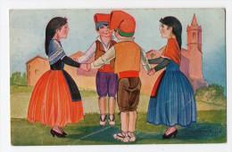 Spain Dance  Sardana Sardanes  Tarjeta Postal Firmada Artista Cervello Vintage Original Postcard Cpa Ak (W3_2783) - Ilustradores & Fotógrafos