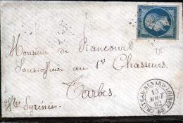 LOIRET - LETTRE AVEC CORRESPONDANCE - CACHET TYPE 15 DE CHATEAU-RENAR LOIRET , N°14 TYPE II - Marcophilie (Lettres)