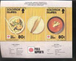 SOLOMON ISLANDS  707  MINT NH STAMPS OF FOOD  PHILA NIPPON 91 - Solomon Islands (1978-...)