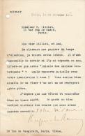 Lettre Du 20 Février 1920, En-tête Du Sénat, Signé De Hugues Le Roux, Sénateur De La Seine-et-Oise, Rambouillet - Autogramme & Autographen