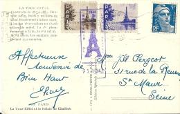 Vignettes Au Dos - Tour Eiffel