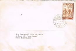 5443. Carta POBLET (tarragona) 1991. Fechador Monasterio - 1931-Hoy: 2ª República - ... Juan Carlos I