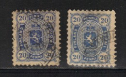 FINLANDE N° 16 A Obl. 2 Nuances - 1856-1917 Russian Government