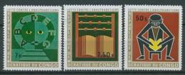 BL1-184 CONGO (KINSHASA) 1971 MI 444-446 BATTLE AGAINST ANALPHABETISM. MNH, POSTFRIS, NEUF**. - Andere