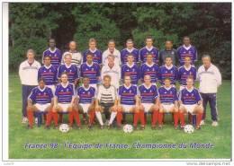 FRANCE 98 - L´Equipe De FRANCE, Championne Du MONDE  -  Série Officielle France  98 - Carte Pré-timbrée - Fútbol