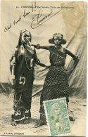 COTE FRANCAISE DES SOMALIS CARTE POSTALE DEPART DJIBOUTI 23 MAI 1914 ARRIVEE DAB-CAU 16-6-14 (TONKIN) - Côte Française Des Somalis (1894-1967)