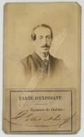 CDV Carte D'exposant Exposition Universelle De 1878. Ministère De L'Agriculture Et Du Commerce. Louis-Edouard Gauthey. - Photographs