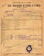 VP281 - Commune De GUEUX 1923 - Déclaration D' Assurance - Collections