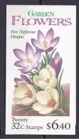 United States1995:  Booklet  Mnh** GARDEN FLOWERS - United States