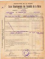 VP282 - Commune De GUEUX 1923 - Déclaration D' Assurance - Collections