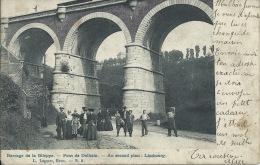 Dolhain - Le Pont - Groupe De Personne, Superbe Animation - 1908  ( Voir Verso ) - Limbourg