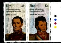 IRELAND/EIRE - 2010  IRISH ROLE IN CHILEAN INDEPENDENCE  PAIR  MINT NH - 1949-... Repubblica D'Irlanda