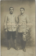 Carte Photo Verdun 6 Décembre 1915-2 Soldats - Krieg, Militär