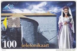 Estonia, ET 088, The Legend Of White Lady, Castle, 2 Scans. - Estonia